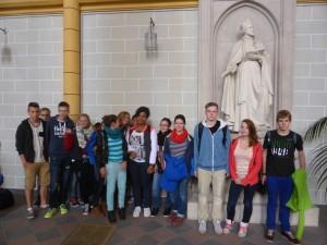Die Projektgruppe in der Jesuitenkirche.