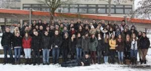 """Für sie ist die Schulzeit """"Schnee von gestern"""": der Abitur-Jahrgang 2013."""