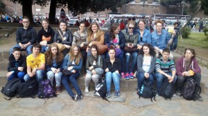 Gruppenfoto: die Schüler des FSG in Italien.