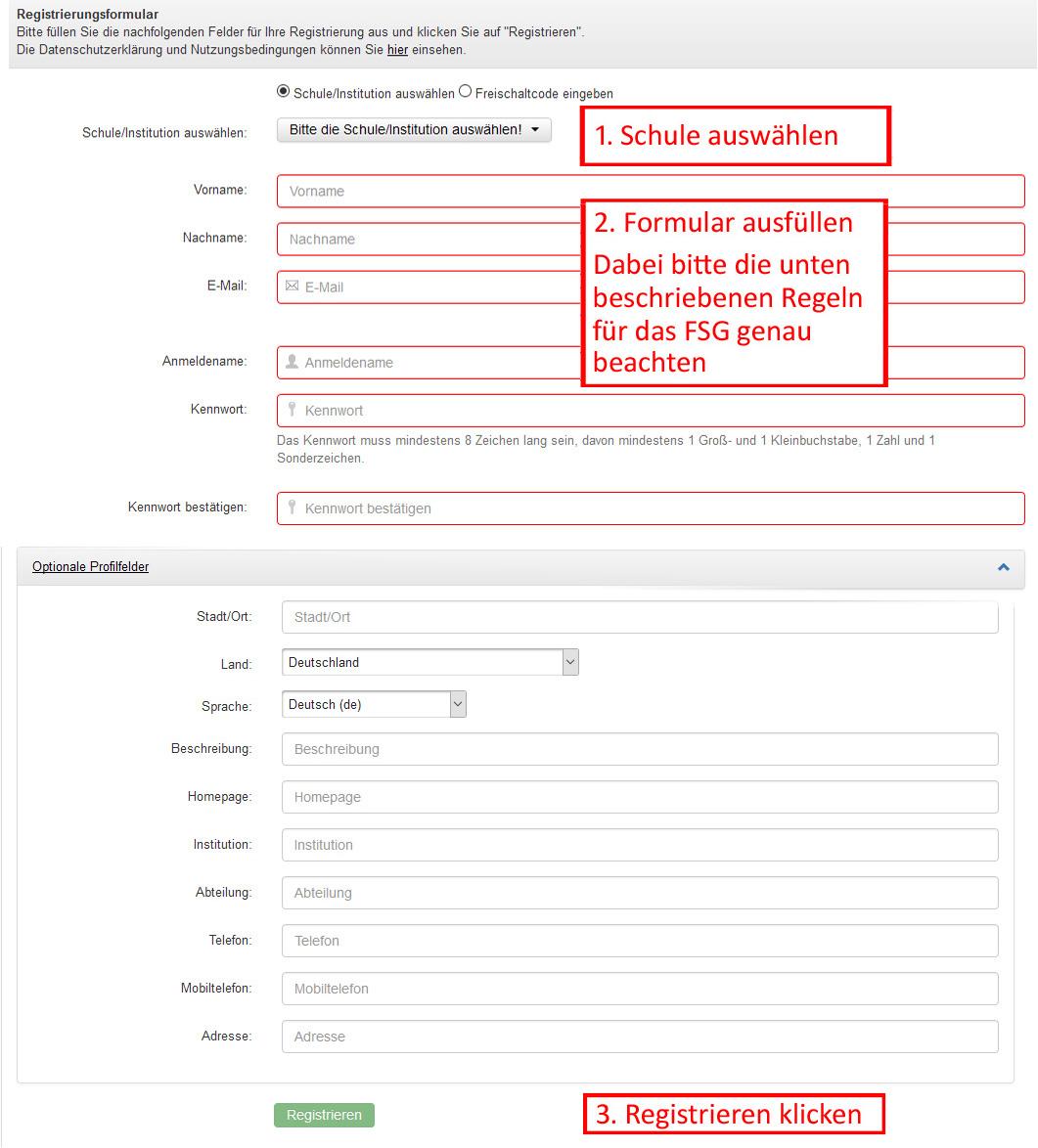 moodle-registrierung-formular