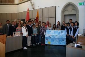 Die Austausch-Schüler aus Trier und Xiamen (China).