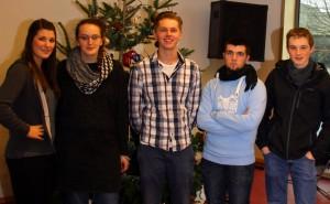 Die Teilnehmer des Rhetorik-Wettbewerbs am FSG.