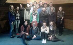 Die 13er mit ihren Lehrern auf dem Stiftsberg in Kyllburg.