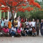 Unsere Gruppe, die Partnergruppe und Lehrer.