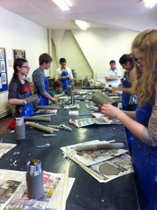 Bei Workshops konnten die Schüler aktiv mitarbeiten.