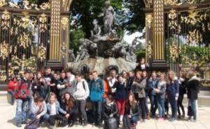 Die Schüler des FSG beim Frankreich-Austausch in Briey.