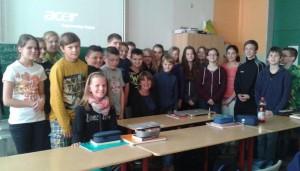 Die Schüler der Klasse 6b freuten sich über den externen Besuch.