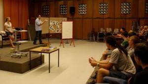 Vertreter der Uni Trier erläuterten Master- und Bachelor-Studiengänge.