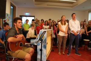 Die Schul-Ensembles präsentierten sich bei der Sommer-Serenade genauso wie...