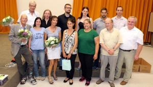 Die verabschiedeten Kollegen zusammen mit Schulleiter Herr Hammann und der ÖPR-Vorsitzenden Elisabeth Wagner.