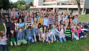 Die neuen Fünftklässler am Friedrich-Spee-Gymnasium.