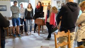 Die Schüler des Philosophie-Grundkurs auf ihrer Exkursion.