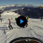 Blauer Himmel, weiße Piste - optimale Bedingungen zum Skifahren!