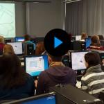 An der Universität digitalisierten die Schüler die am Vormittag erfassten Daten.