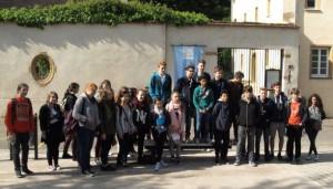 Die FSG-Schüler in Frankreich.