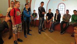 Latein-Schüler bei ihrer Exkursion.