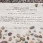 Gedenkstein im KZ Buchenwald.