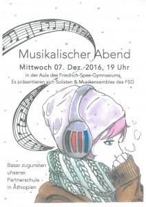 Das Plakat zur Veranstaltung, gestaltet von Kira-Luca Reiter (MSS 11) und Herrn Philipps.