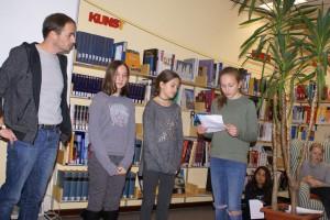 In der Bibliothek des FSG präsentierten die Schüler ihre eigenen Schriftwerke.