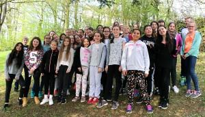 Die Schüler bei den Probetagen in Bollendorf.