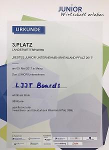 Die Urkunde für LJJT.