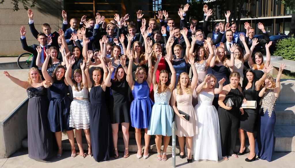 Grund zum Jubeln: 47 Abiturienten verlassen in diesem Jahr das FSG.