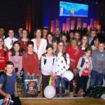 Das Friedrich-Spee-Gymnasium Trier trifft mit seiner Jugendjury und den Partnern des Bildungsbündnisses Trier-Ehrang Bundesministerin für Familien, Frauen, Senioren und Jugend, Dr. Katarina Barley, bei der Preisverleihung des Deutschen Jugendliteraturpreises.