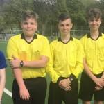 Jeremias, Joshua, Kevin, Vincent und Leo haben erfolgreich die Schiedsrichter-Prüfung bestanden und kamen beim Turnier im Moselstadion zum Einsatz.