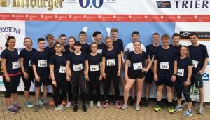 Die Läufertruppe des FSG beim Firmenlauf 2018.