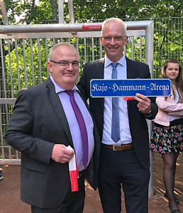 "... der künftig den Titel ""Kajo-Hammann-Arena"" trägt."