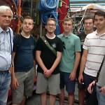 Schüler des Physik-LK auf Exkursion.