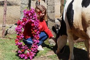 Für die feierliche Übergabe bastelten die Schüler des FSG Blumenschmuck.
