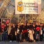 Die Gruppe des Friedrich-Spee-Gymnasiums auf der Buchmesse in Leipzig