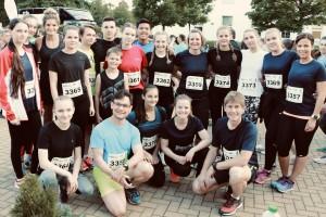 Gute Stimmung vor dem Start: die Läufer des FSG beim Trierer Firmenlauf.