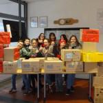 Die Schüler des FSG haben in diesem Jahr 26 Pakete zusammengestellt.